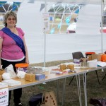 Hard working roped in parent who made sure, despite the winds, that all tombola tickets stayed in the bucket and the marquee tent didn't take off! Thank you Karen's mum x